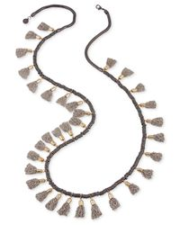 French Connection | Metallic Tri-tone Extra Long Multi-tassel Necklace | Lyst