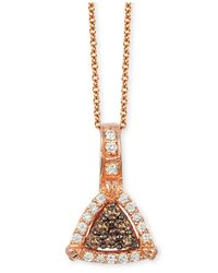 Le Vian | Metallic Neo Geo Chocolatier Chocolate And Vanilla Diamond Triangle Pendant Necklace (1/4 Ct. T.w.) In 14k Rose Gold | Lyst