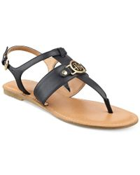 Tommy Hilfiger - Brown Lelah Flat Thong Sandals - Lyst
