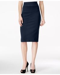 INC International Concepts | Blue High-waist Pencil Skirt | Lyst
