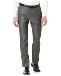 Perry Ellis - Gray Big And Tall Slim-fit Micro-twill Heathered Pants for Men - Lyst