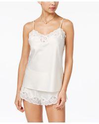 Lauren by Ralph Lauren - White Satin Camisole And Shorts Pajama Set - Lyst