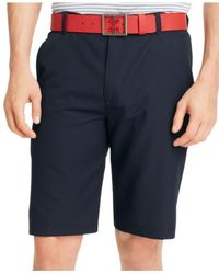 Izod | Blue Solid Flat Front Golf Shorts for Men | Lyst