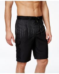 Calvin Klein - Black Men's Gradient Swim Trunks for Men - Lyst