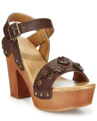 Mojo Moxy - Brown Dolce By Joni Wooden Platform Sandals - Lyst