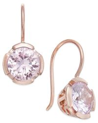 Thomas Sabo | Metallic Pink Crystal Drop Earrings In 18k Rose Gold-plated Sterling Silver | Lyst