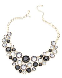 INC International Concepts | Metallic Gold-tone Black Stone Bib Necklace, Only At Macy's | Lyst