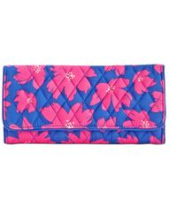 Vera Bradley - Pink Signature Trifold Wallet - Lyst