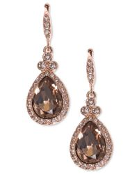 Givenchy | Pink Teardrop Pave Crystal Drop Earrings | Lyst