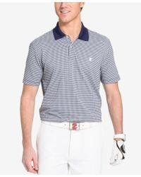 Izod - White Men's Micro-plaid Performance Golf Polo for Men - Lyst