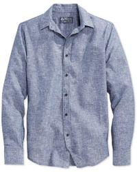 American Rag | Blue Men's Long-sleeve Linen Shirt, Only At Macy's for Men | Lyst