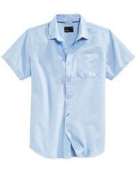 Tavik | Blue Men's Uncle Solid Short-sleeve Shirt for Men | Lyst