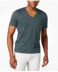 INC International Concepts   Black Men's V-neck Polished T-shirt, Only At Macy's for Men   Lyst