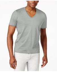 INC International Concepts | Gray Men's V-neck Polished T-shirt, Only At Macy's for Men | Lyst