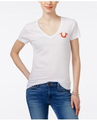 True Religion | White Short-sleeve Logo T-shirt | Lyst