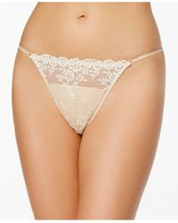 Wacoal - Natural Embroidered-lace Thong 842191 - Lyst
