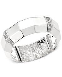 INC International Concepts - Gray Imitation Pearl And Crystal Fireball Hinge Bracelet Set - Lyst
