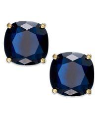 kate spade new york - Blue Square Stud Earrings - Lyst
