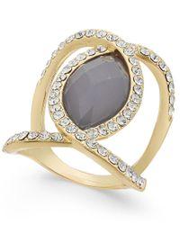 INC International Concepts - Metallic Gold-tone Oval Ring, Only At Macy's - Lyst