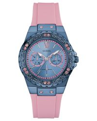Guess - Women's Pink Silicone Strap Watch 39mm U0775l5 - Lyst
