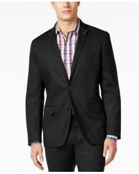 INC International Concepts | Black Men's Slim-fit Stretch Linen Blazer, Only At Macy's for Men | Lyst