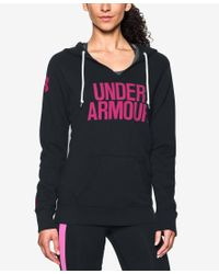 Under Armour | Black Favorite Fleece Logo Pullover Hoodie | Lyst