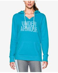 Under Armour | Blue Favorite Fleece Pullover Hoodie | Lyst