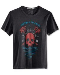 Guess - Black Men's Chill Graphic-print T-shirt for Men - Lyst