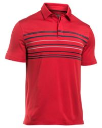Under Armour | Red Men's Coldblack Stripe Golf Polo for Men | Lyst