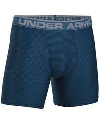 Under Armour   Blue Men's Heatgear Boxer Briefs for Men   Lyst