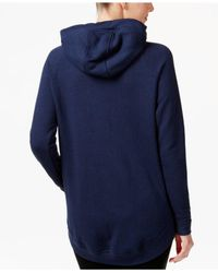 Nike - Blue Asymmetrical Zip Hooded Jacket - Lyst