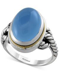 Effy Collection | Metallic Chalcedony (8-1/2 Ct. T.w.) Rope Ring In Sterling Silver With 18k Gold Accents | Lyst