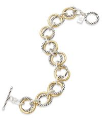 Lauren by Ralph Lauren - Metallic Two-tone Double Link Twist Bracelet - Lyst