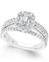 Macy's | Diamond Engagement Ring (1-3/4 Ct. T.w.) In 14k White Gold | Lyst