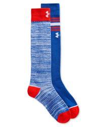Under Armour | Blue Women's Performance Knee High Socks 2 Pack | Lyst