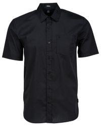 Volcom | Black Men's Everett Solid Short-sleeve Shirt for Men | Lyst