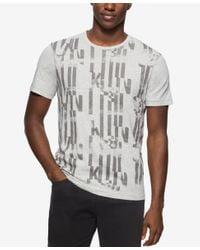 Calvin Klein Jeans - Gray Men's Texturizer Crew Neck T-shirt for Men - Lyst