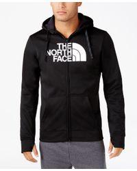 The North Face | Black Men's Surgent Half-dome Technical Zip Hoodie for Men | Lyst