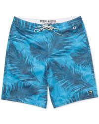 Billabong - Blue Men's All Day Lo Tides Boardshorts for Men - Lyst