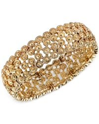 2028 | Metallic Gold-tone Decorative Stretch Bracelet | Lyst