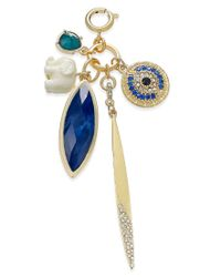 INC International Concepts - Metallic M. Haskell For Inc Gold-tone Multi-charm Clip-on Pendant, Only At Macy's - Lyst