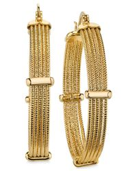 2028 | Metallic Gold-tone Textured Multi-row Hoop Earrings, A Macy's Exclusive Style | Lyst