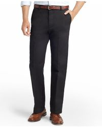 Izod   Black American Straight-fit Flat Front Chino Pants for Men   Lyst