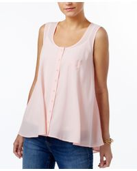 Style & Co. | Pink Swing Sleeveless Blouse, Only At Macy's | Lyst