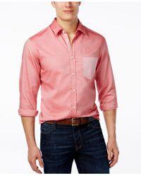 BOSS - Pink Green Men's Baloyo Shirt for Men - Lyst
