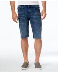 True Religion - Blue Men's Ricky Relaxed-fit Jean Shorts for Men - Lyst