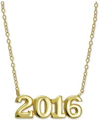 Giani Bernini - Metallic 2016 Graduation Pendant Necklace In 24k Gold-plated Sterling Silver & 24k Gold-plated Rose Gold - Lyst