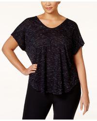 Calvin Klein | Black Performance Plus Size Racerback T-shirt | Lyst