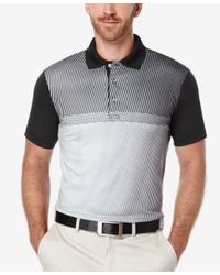 PGA TOUR - Black Men's Tonal Print Golf Polo for Men - Lyst