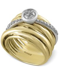 Effy Collection | Metallic Duo By Effy Diamond Stack-look Ring (3/4 Ct. T.w.) In 14k White And Yellow Gold | Lyst